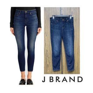 NEW $198 J Brand Capri Dark Wash Cropped Jeans